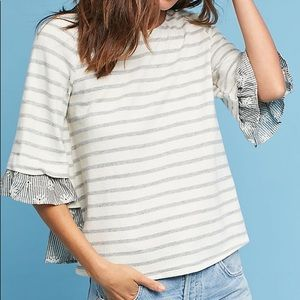 Anthropologie Erin + Ali Bree Lace-Up-Back Top